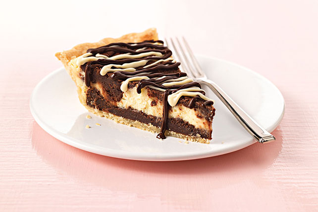Cream Cheese-Brownie Pie