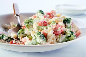 Creamy Farmers' Market Pasta Salad