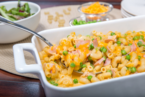 Mac and Cheese Casserole with Ham