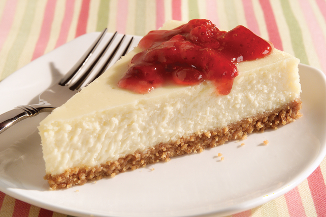 Strawberry Preserve-Topped Cheesecake Image 1