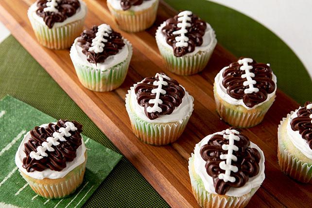 Touchdown JELL-O Poke Cupcakes Image 1
