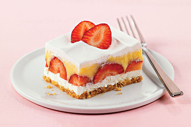Layered Strawberry Dessert Image 1