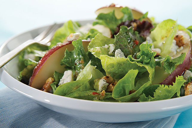 Pear & Walnuts with Mixed Greens Image 1