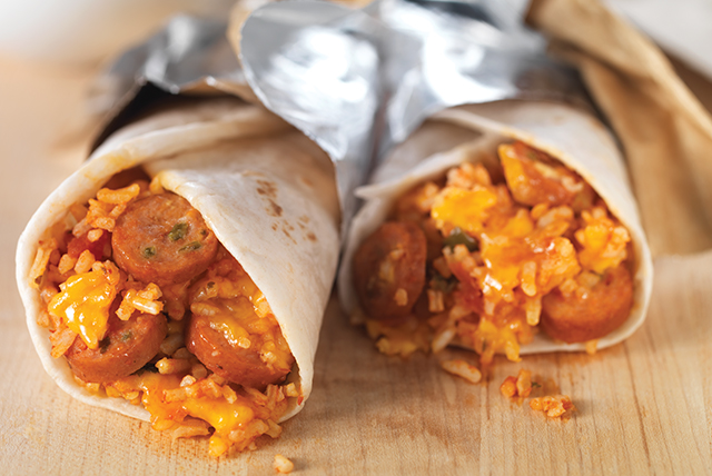 Hot Dog Mexican Rice Wrap Image 1