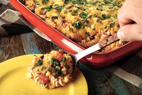 Mexican Pasta Vegetable Bake
