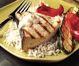 Grilled Ginger-Lime Swordfish & Vegetables Image 1