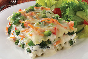 Vegetable Lasagna in Parmesan Cream Sauce