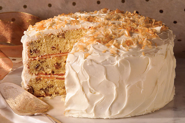 Coconut-Pecan Pudding Cake Image 1