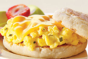 Cheesy Chived Egg Sandwich