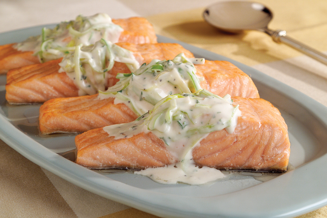 Salmon with Leeks and Cream Sauce Image 1