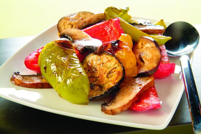 Pepper, Mushroom And Eggplant Salad Image 1