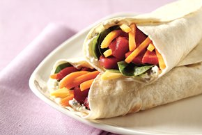 Wrapped Veggie Sandwich