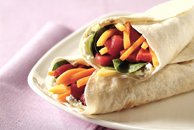 Wrapped Veggie Sandwich Image 1