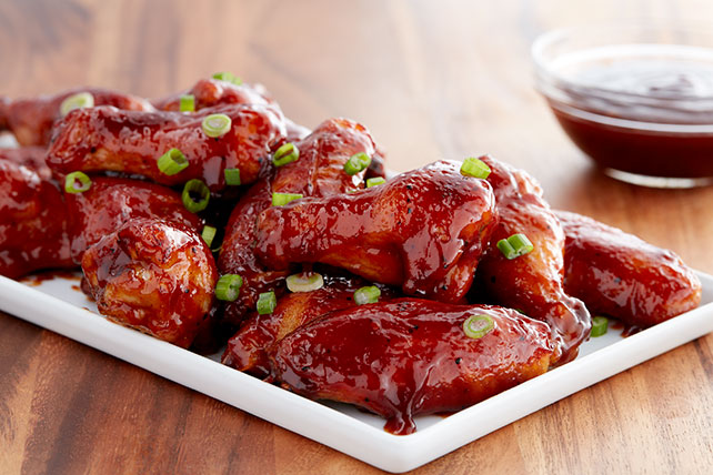 Classic sweet bbq chicken wings kraft recipes classic sweet bbq chicken wings forumfinder Image collections