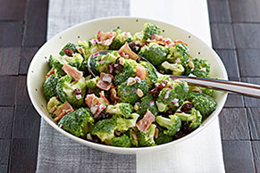 Quick Bacon, Broccoli & Raisin Salad