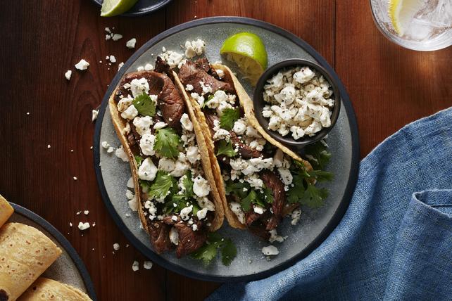 Fáciles tacos de bistec y feta Image 1