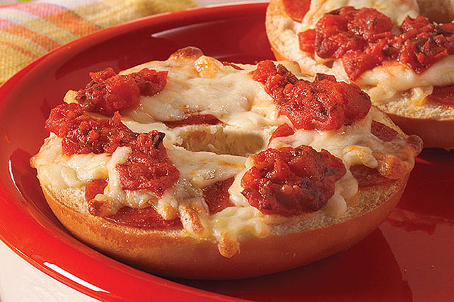 Kids-Only Pepperoni Pizza Bagels