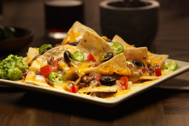 Nachos with Cheesy Beef