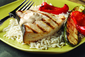 Grilled Ginger-Lime Swordfish & Vegetables