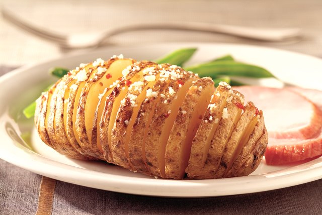 Fanned Baked Potatoes Image 1
