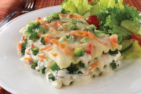 Veggie Lasagna in Parmesan Cream Sauce