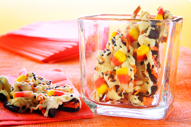 Howling Candy Corn Cookie Bark Image 1