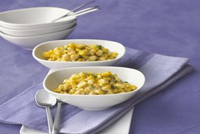 Cheesy Green Onion Corn Saute