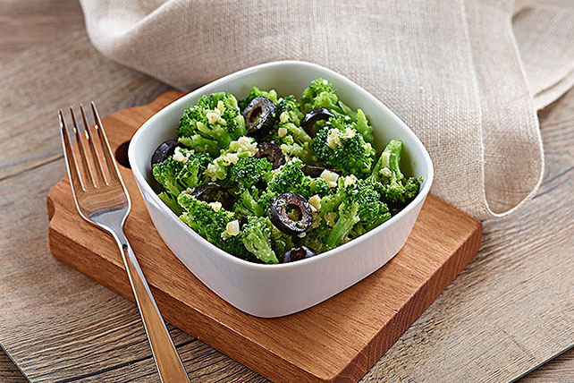 Broccoli with Black Olives Image 1
