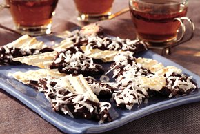 Chocolate-Dipped Matzos for Passover