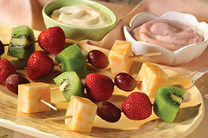 Cheese and Fruit Kabobs