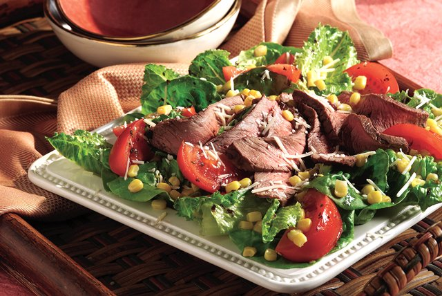 Balsamic Steak Romano Salad