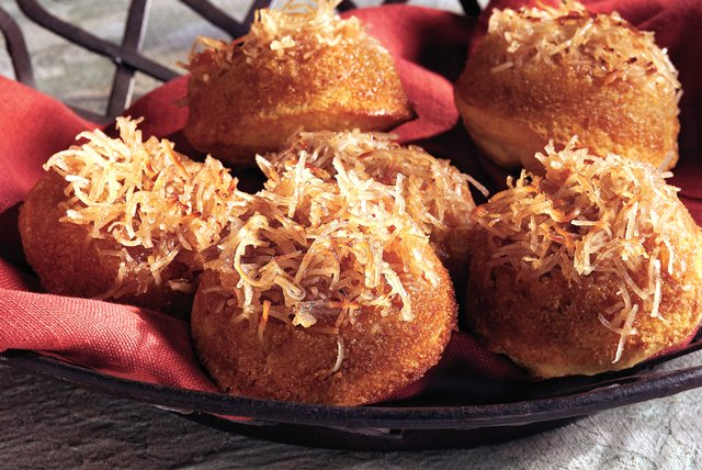 Upside-Down Coconut-Maple Corn Muffins Image 1