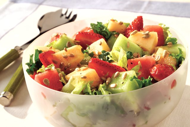 Strawberry and Melon Salad Image 1