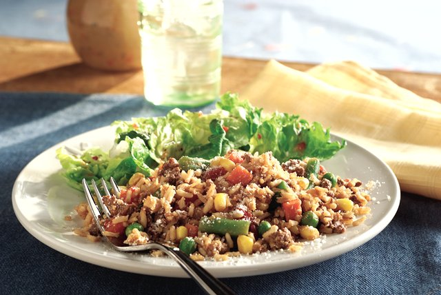 20 Minute Vegetable Beef & Rice Skillet Dinner Image 1
