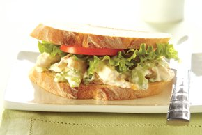 Basil-Chicken Salad Sandwich