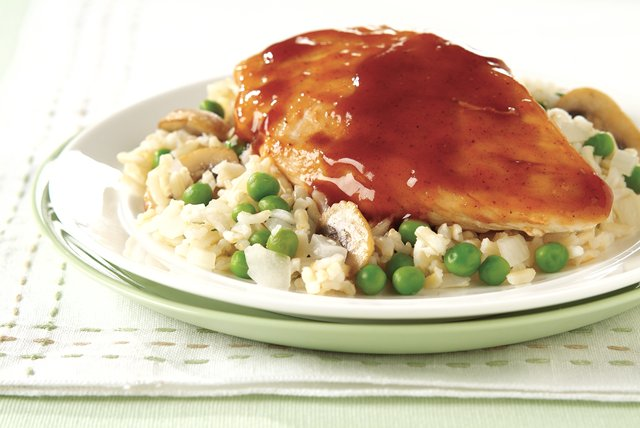 BBQ Chicken with Brown Rice Pilaf Image 1