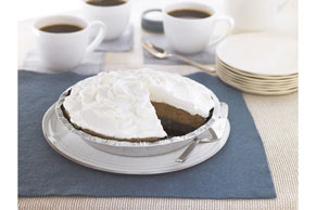 Triple-Layer Chocolate Pie