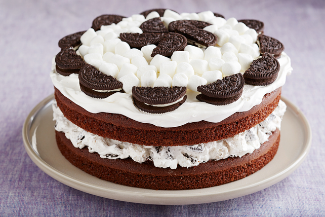 Marshmallow-Devil's Food Cake Image 1