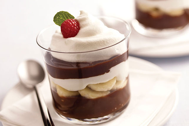 Low-Fat Chocolate-Banana Parfaits Image 1