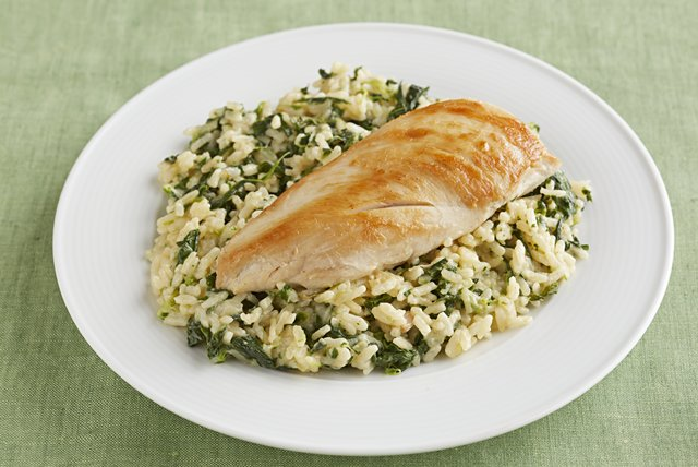 15 Minute Chicken & Rice Florentine