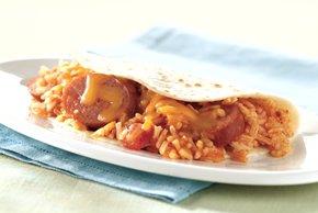 Southwestern Sausage-Rice Wrap