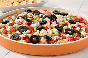 5-Layer Greek Dip with Kalamata Olives