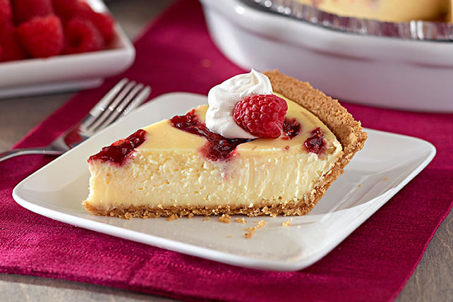 PHILADELPHIA 3-STEP Raspberry-Swirl Cheesecake Image 1