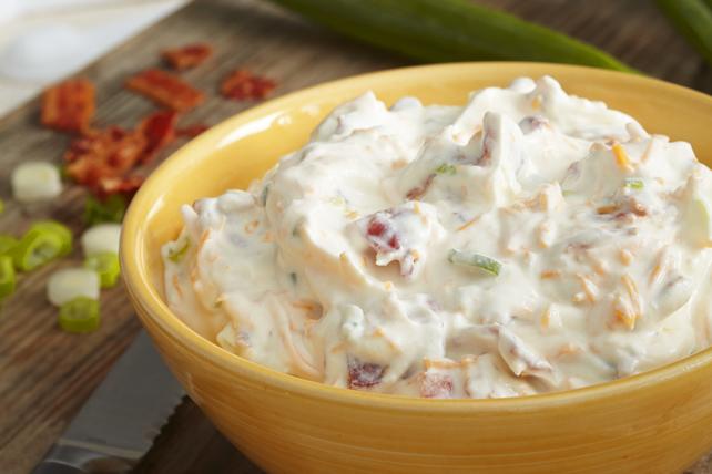 5 Minute Bacon Cheddar Sour Cream Dip