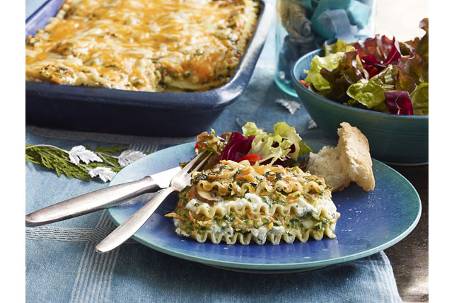 Smart-Choice Creamy Cheddar-Vegetable Lasagna