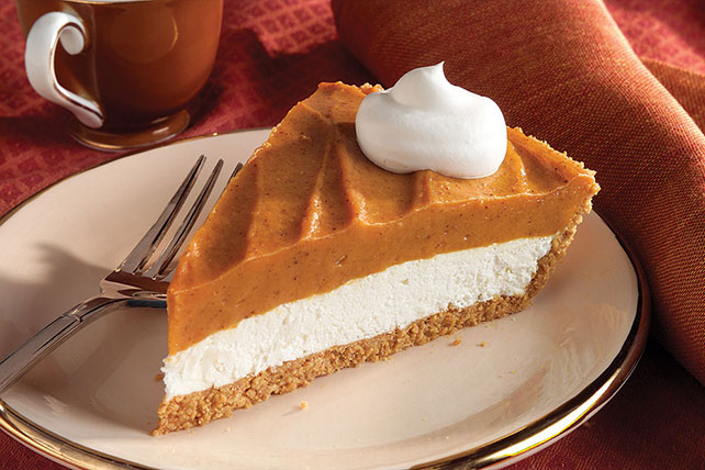 Creamy Two-Layer Pumpkin Pie Image 1