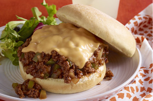 Easy Cheesy Barbecued Sloppy Joes