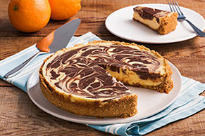 Orange-Chocolate Swirl Cheesecake