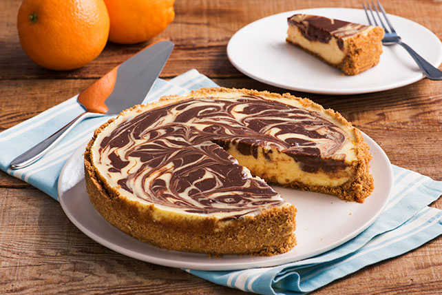 Orange-Chocolate Swirl Cheesecake Image 1