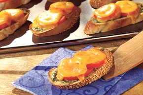 Cheese and Pesto Toasts